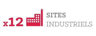 12 sites industriels