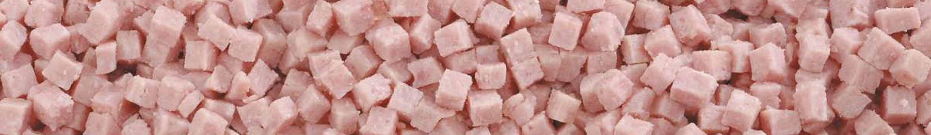 Matière en gros cubes jambon